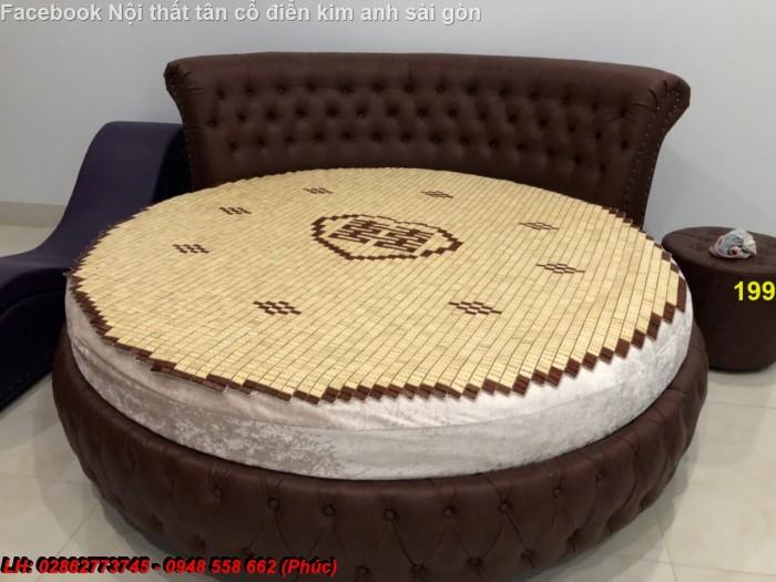 Giường tròn giá rẻ cho homestay Đà Lạt,  Long An | giường tròn công chúa