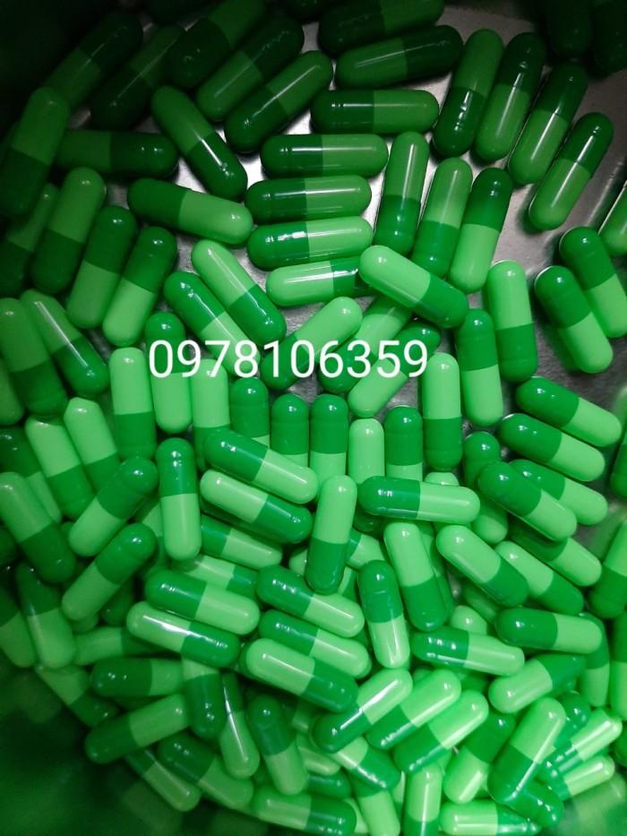 Vỏ nhộng màu xanh lá đậm lá nhạt size 0 hàng sẵn kho, vỏ thuốc con nhộng1