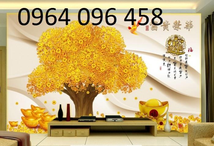 Tranh 3d cây tiền - 65VB0