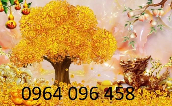 Tranh 3d cây tiền - 65VB1