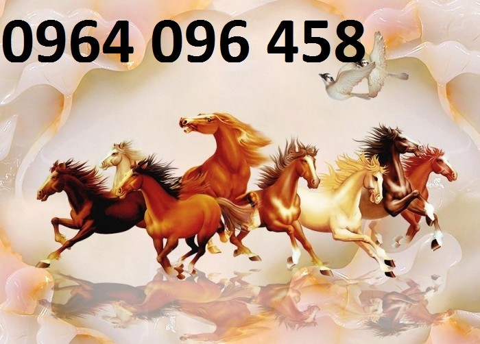Tranh 3d con ngựa sứ ngọc sang trọng3