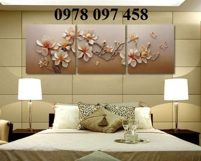 Nghệ thuật trang trí phòng ngủ- tranh gạch1