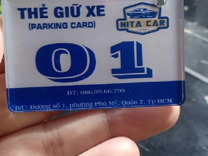 Thẻ xe mica cấp giá ưu đãi 10k1