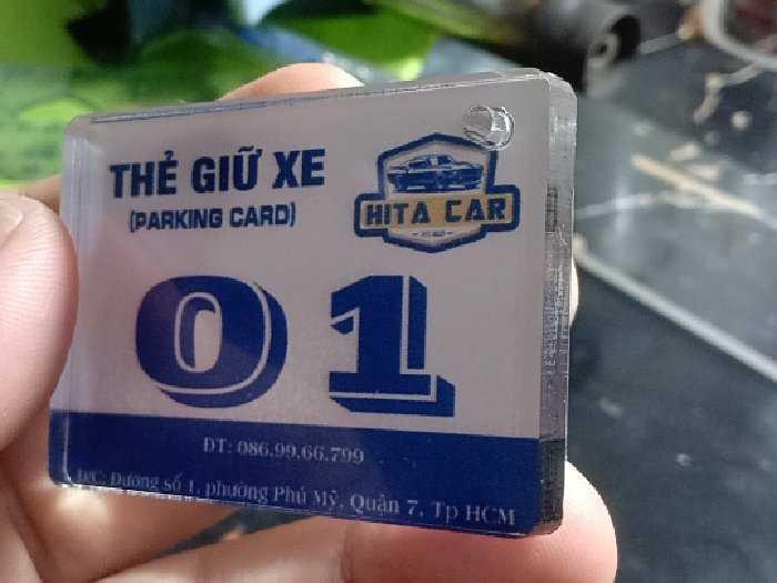 Thẻ xe mica cấp giá ưu đãi 10k2