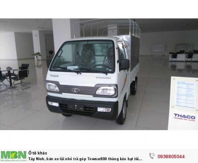 Tây Ninh, bán xe tải nhỏ trả góp Towner800 thùng bạt 900kg, đời 20201