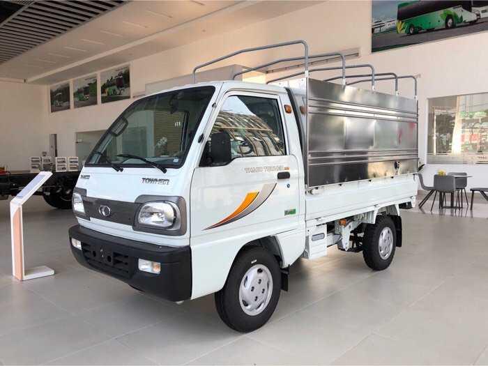 Tây Ninh, bán xe tải nhỏ trả góp Towner800 thùng bạt 900kg, đời 20202