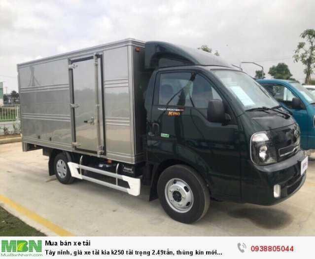 Tây ninh, giá xe tại KIA K250 2,5 tấn thùng kín, động cơ HUYNDAI bán trả góp2
