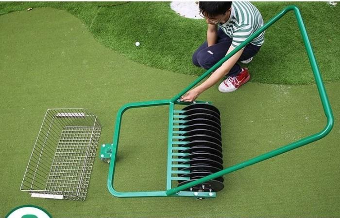 Xe nhặt bóng golf ( xe nhặt banh golf ) đẩy tay công suất nhặt 600 quả bóng g7