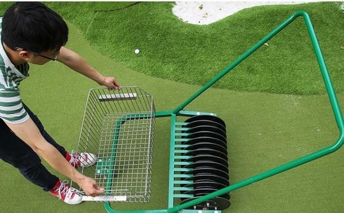 Xe nhặt bóng golf ( xe nhặt banh golf ) đẩy tay công suất nhặt 600 quả bóng g10