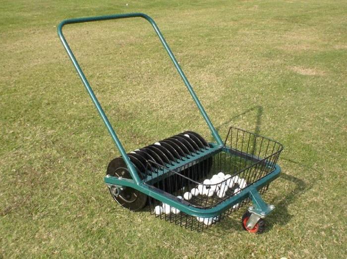 Xe nhặt bóng golf ( xe nhặt banh golf ) đẩy tay công suất nhặt 600 quả bóng g11