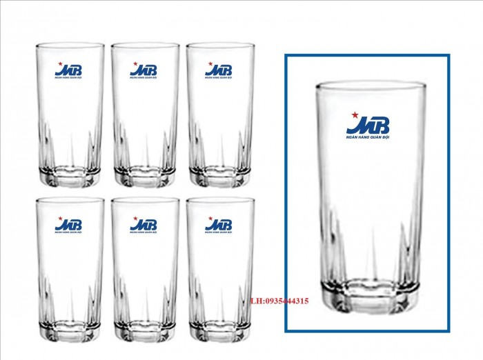 In logo lên ly thủy tinh chất lượng giá rẻ tại xưởng3