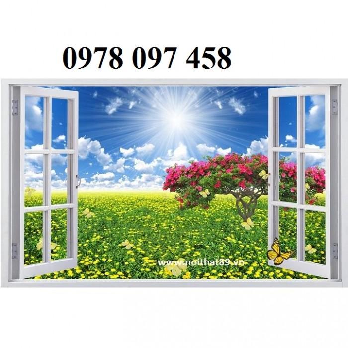 Tranh hoa - tranh cửa sổ