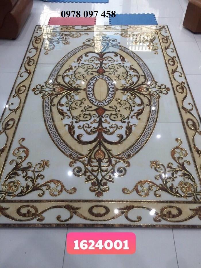 Thảm gạch men lát sàn phòng khách