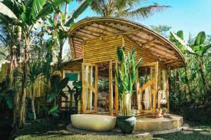 Những mẫu nhà bungalow, homestay bằng tre0
