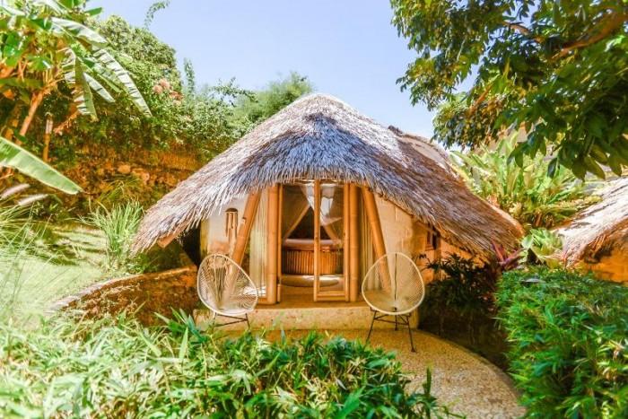 Những mẫu nhà bungalow, homestay bằng tre2