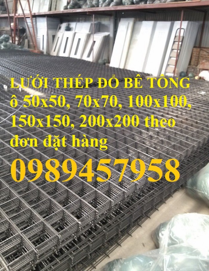 Lưới thép Phi 4 ô 100x100, D4 ô 150x150, 200x200, Phi4 ô 50x50 có sẵn6