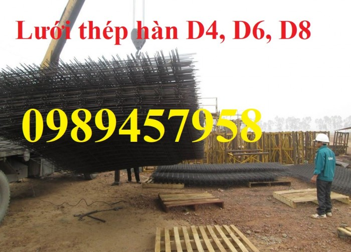 Lưới thép công trình phi 4 a 100x100, 150x150, 200x200, Lưới phi 5 a 200x200, Phi 6 a 150x1504