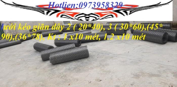 lưới dập giãn dây 3 ( 36*78) w 3.0  Kt : 1 x 10 mét , 1.2 x10 mét