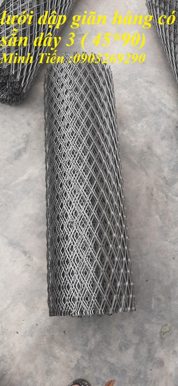 Lưới dập giãn dây 2 ( 20*40), dây 3 ( 30*60), (45*90),(38*76)4