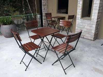 Thanh lý bộ bàn ghế xếp ngoài trời