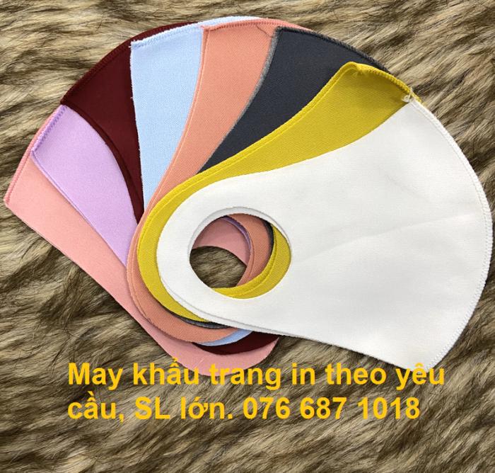 Chuyên may khẩu trang vải poli 2 da in theo yêu cầu tại Hồ Chí MInh3
