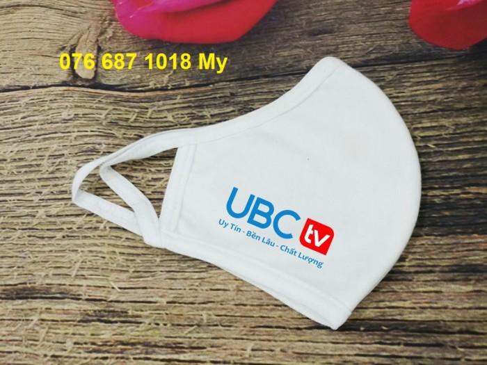 Khẩu trang 2 lớp kháng khuẩn in logo UBC1