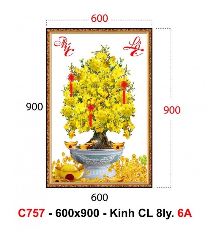 Tranh 3d cây mai kim tuyến - 45VN