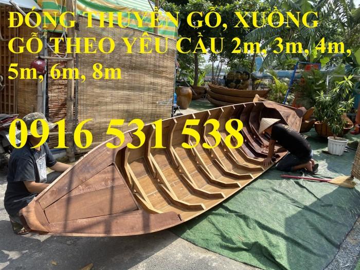 Đóng Xuồng gỗ, xuồng gỗ ba lá, xuồng gỗ 3m, 4m, 5m0