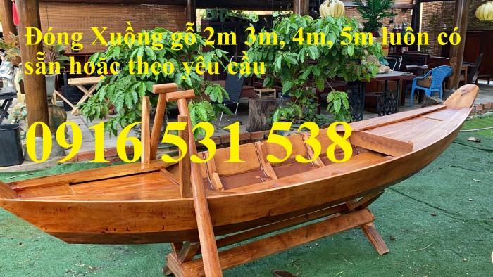 Thuyền gỗ bày hải sản, thuyền gỗ trang trí, thuyền gỗ có sẵn0