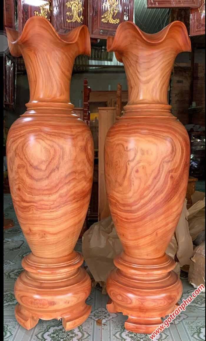 Cặp lục bình gỗ hương đá cao 1m5 – 1m62
