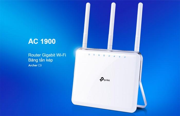 Router Gigabit Wi-Fi Băng tần kép AC1900 Archer C9  Bộ xử lý lõi kép 1GHz không bị gián đoạn khi xử lý không dây hoặc có dây.2