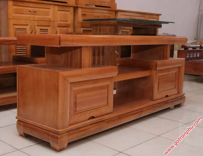 Kệ tivi gỗ đinh hương kiểu Nhật 1m4 – 1m6 – 1m81