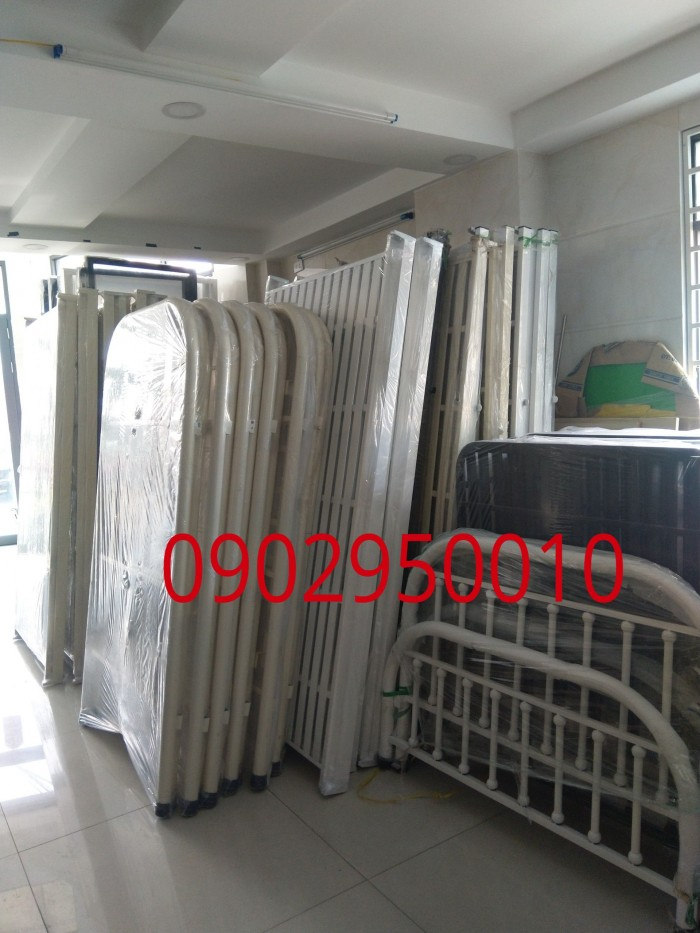 Giường sắt Bi 1m4x2m giường sắt đôi đẹp2