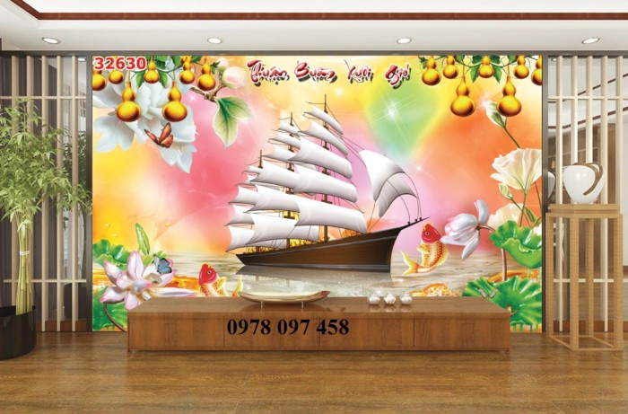 Tranh phòng làm việc - tranh thuyền buồm