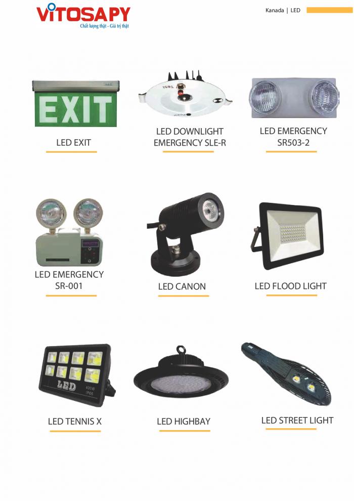 Vitosa Phú Yên Tuyển đại lý phân phối sản phẩm đèn led kanada lighting2