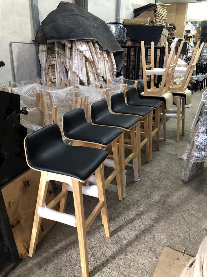 Ghế gỗ quầy có nệm.1