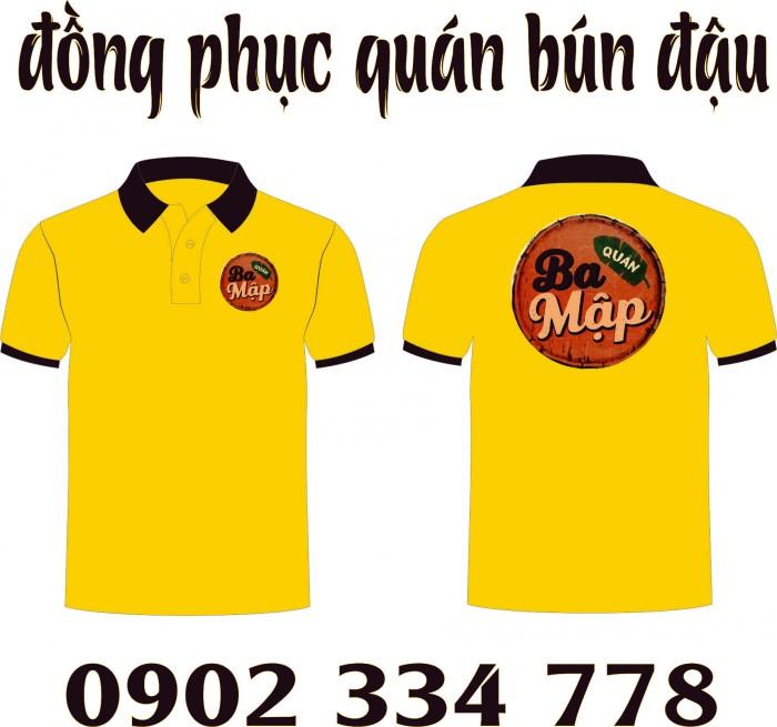 áo thun đồng phục vàng cúc - xưởng may áo thun giá rẽ cho quán bún đậu mắm tôm