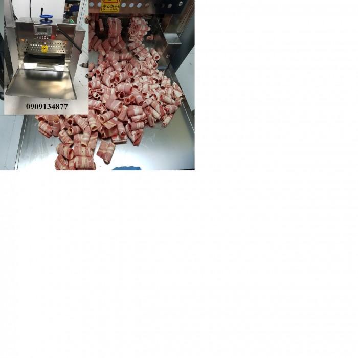 Máy bào lát thịt đông lạnh dạng cuộn tròn tự động 2 cuộn0