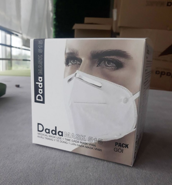 Khẩu trang y tế DaDa Mask VN95 515 – Hộp 5 cái màu xám không van0