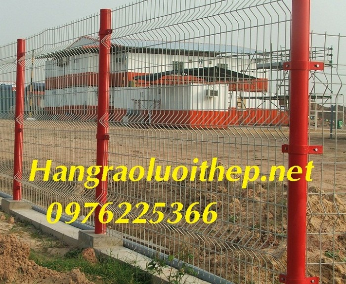 Sản xuất hàng rào mạ kẽm nhúng nóng, hàng rào sơn tĩnh điện giá tốt4