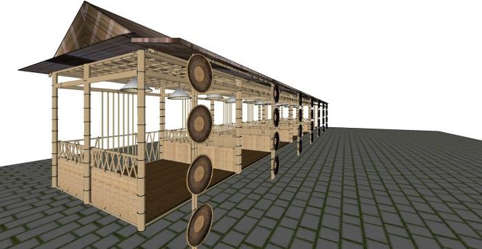 Cho thuê các gian hàng triển lãm bằng tre tại TP Cần Thơ0