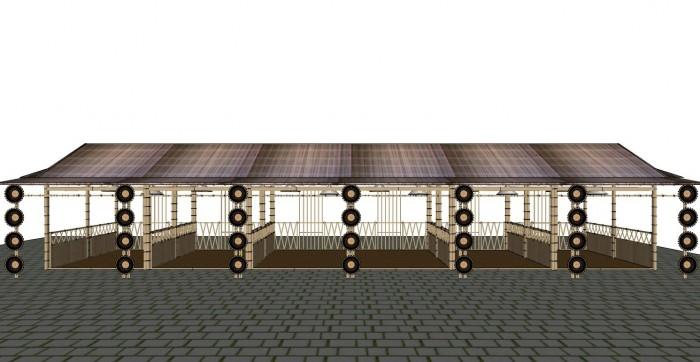 Cho thuê các gian hàng triển lãm bằng tre tại TP Cần Thơ1