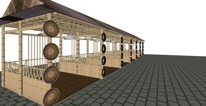 Cho thuê các gian hàng triển lãm bằng tre tại TP Cần Thơ2