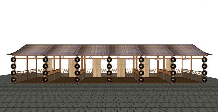Cho thuê các gian hàng triển lãm bằng tre tại TP Cần Thơ3