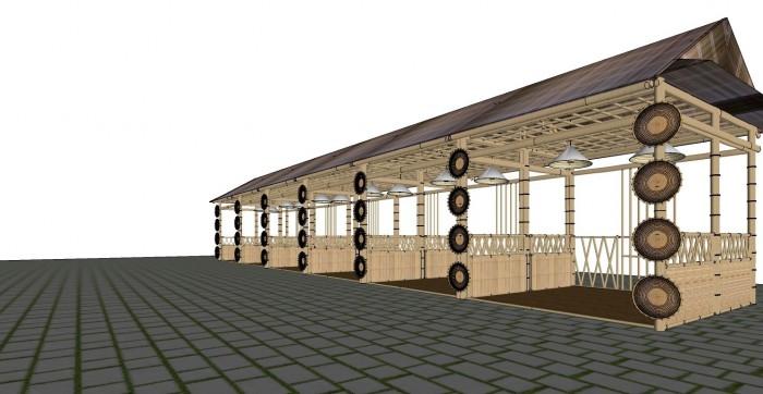 Cho thuê các gian hàng triển lãm bằng tre tại TP Cần Thơ5