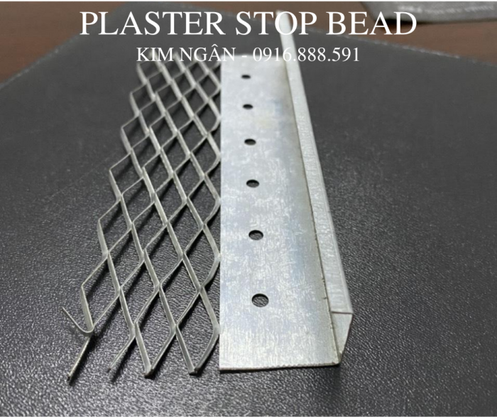 Plaster Stop Bead - Nẹp kết thúc tường tô - Nẹp tiếp giáp giữa hai vạt liệu1