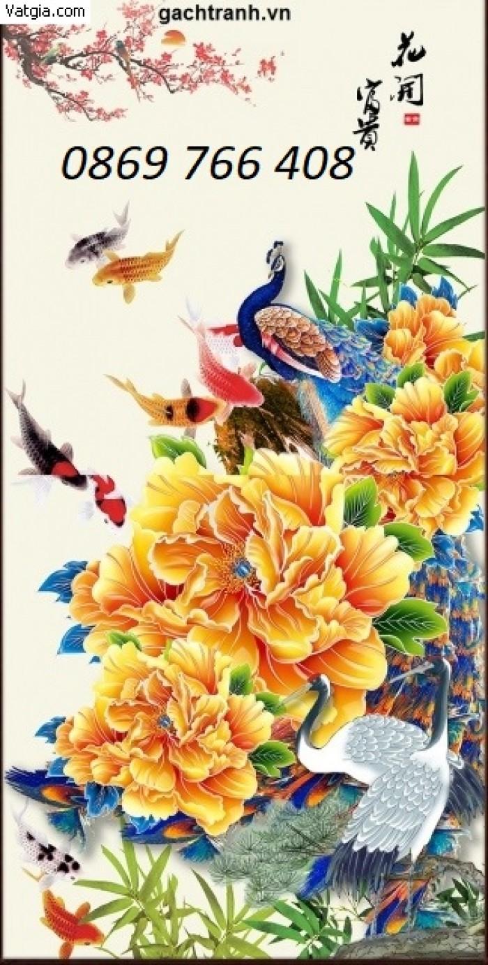 Tranh gạch 3D-Tranh hoa mẫu đơn4