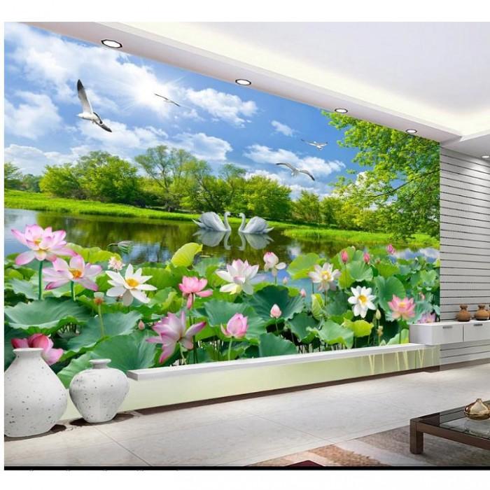 Tranh gạch - tranh hoa sen2