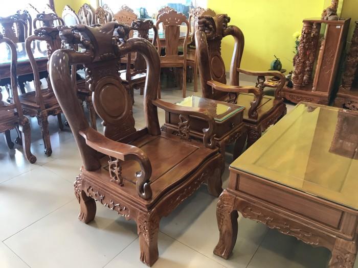 Bộ bàn ghế phòng khách tay 10 gỗ lim giá siêu rẻ3