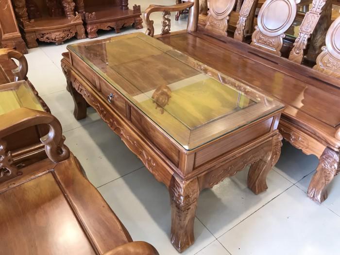 Bộ bàn ghế phòng khách tay 10 gỗ lim giá siêu rẻ4
